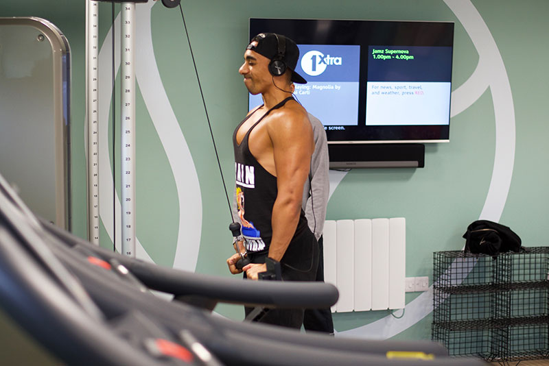 One of our residents makes use of the state-of-the-art fitness suite at The Green