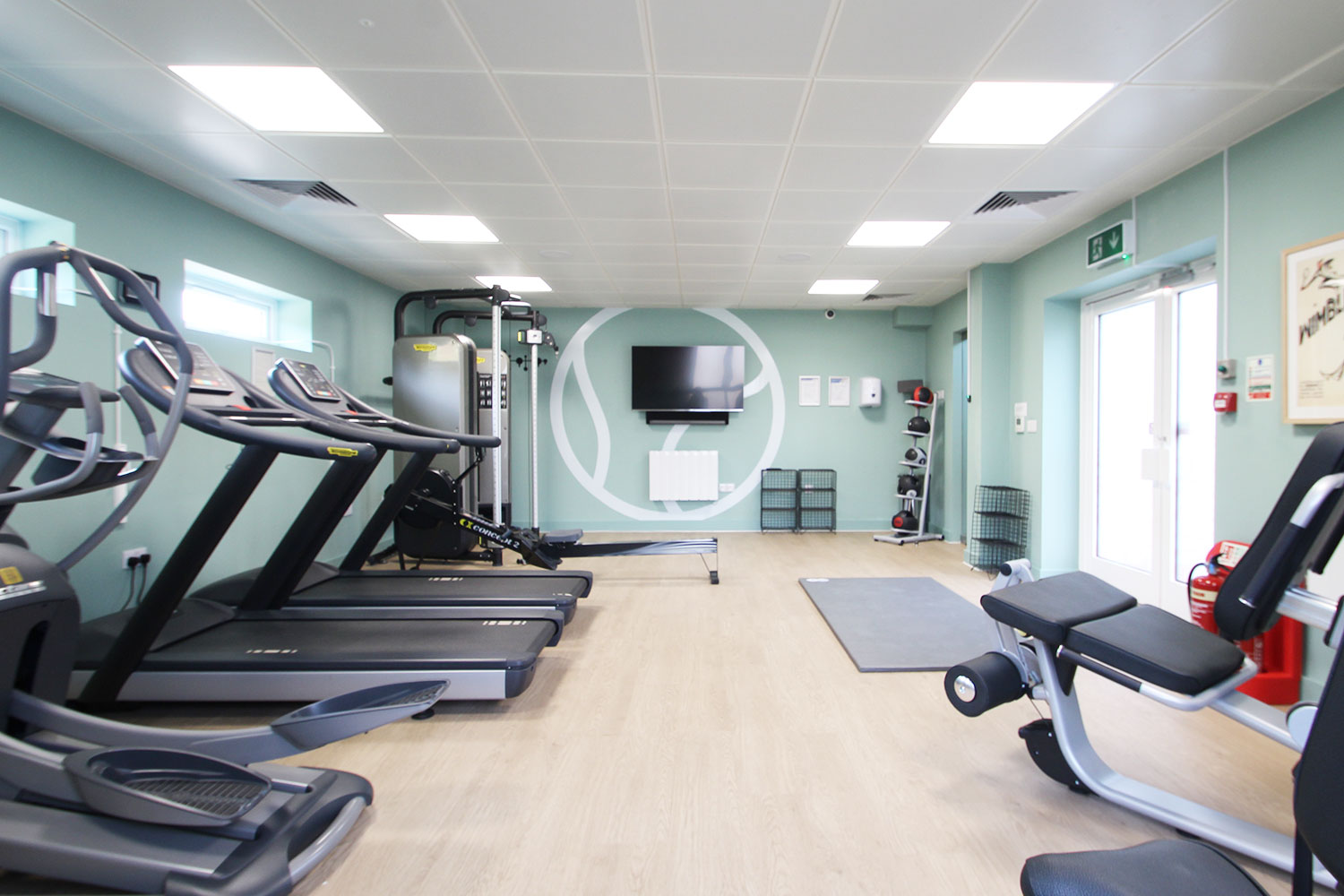 From gentle weekend workouts to intense conditioning sessions; The Green's fabulous free onsite gym has everything you need