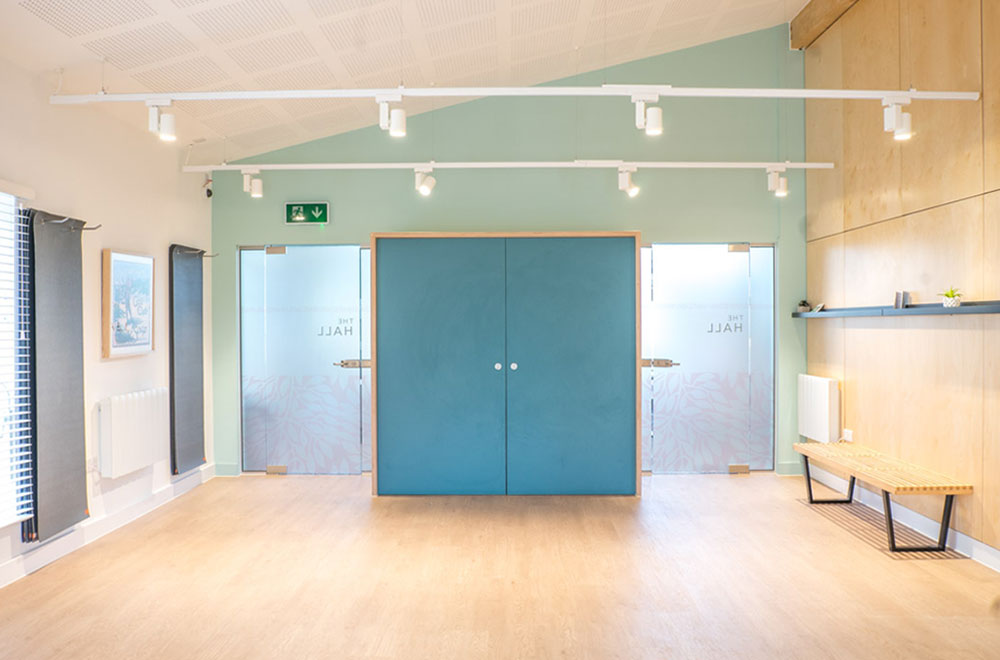 The Hall is our multi-purpose events space for residents to use for classes, parties or simply chilling out...